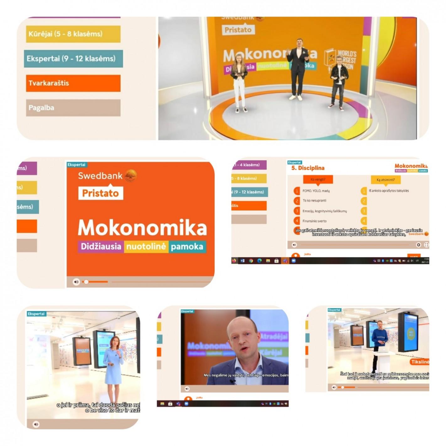 "Swedbank nuotolinė pamoka ""MOKONOMIKA"""